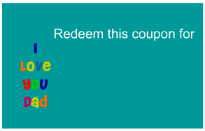 Blank coupon for father's day