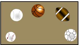 Sports ball labels design