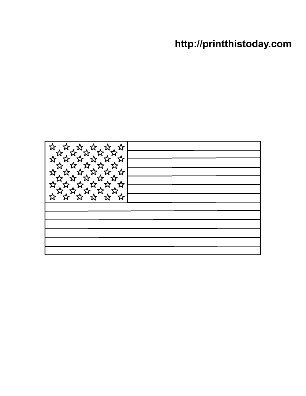 american flag coloring page for kids - Us Flag Coloring Page