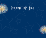 Fire works party invite.