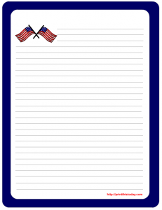 Twin Flags letter pad stationery
