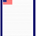 US Flag notepad stationery