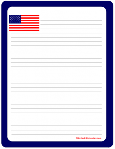 US Flag notepad stationery