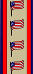 4th of July bookmarks with American Flags