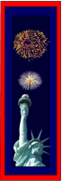 Statue of Liberty and Fireworks bookmarks