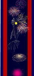 July 4th fireworks bookmarks