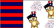 Cute teddy bears and fire works