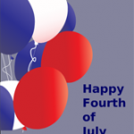Fourth of July Card with Balloons