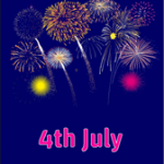 4th of July Fireworks Card