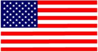US flag labels