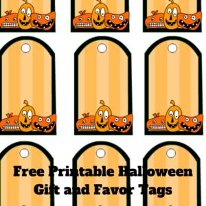 Free Printable Halloween Gift and Favor Tags