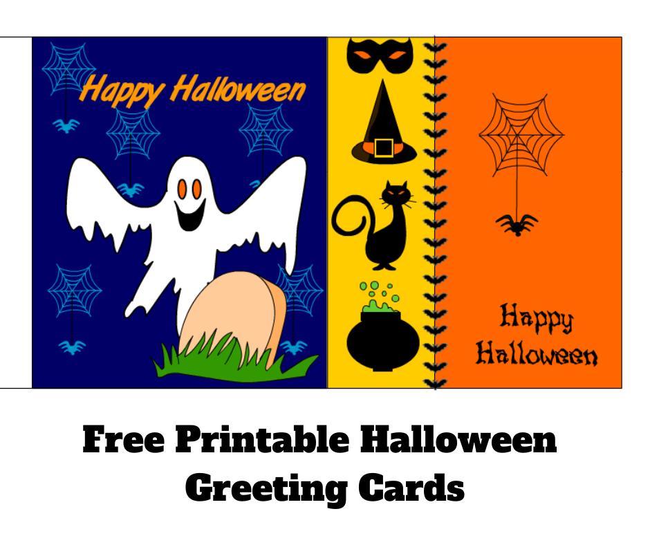 Free Printable Halloween Greeting Cards