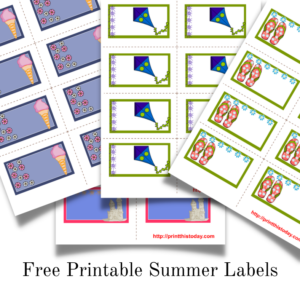 Free printable Summer Labels