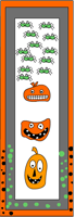 Cute monsters bookmarks template free download