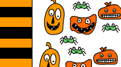 Halloween candy wrapper with monsters