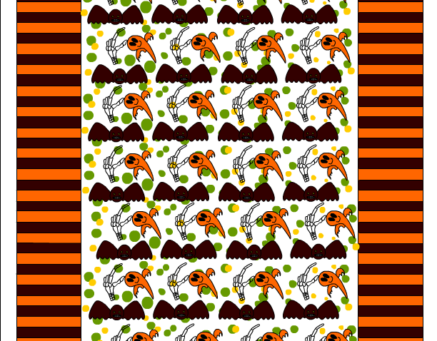 free printable halloween candy wrapper with scary bat and ghost