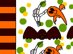 Bat and ghost candy wrappers