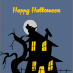 Halloween Card with haunted house