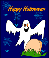 Scary Ghost Halloween Card Printable