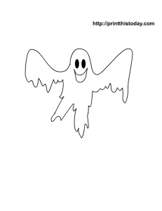 Spooky ghost coloring page