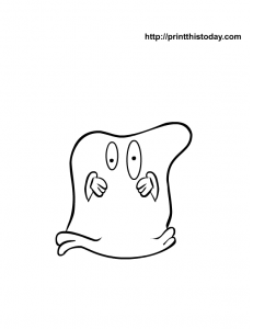 Pillow cover Ghost coloring page for kids