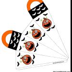 Scary pumpkins Halloween favor bag