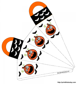 Scary pumpkins Halloween favor bag