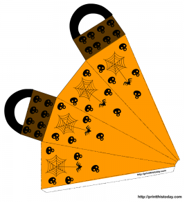 Cute favor bag with skulls and spiders