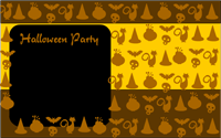 Halloween party invite. template free download
