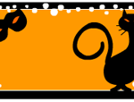 Free printable Halloween labels with cat and mask