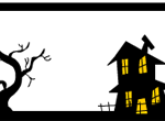 Haunted house and tree labels