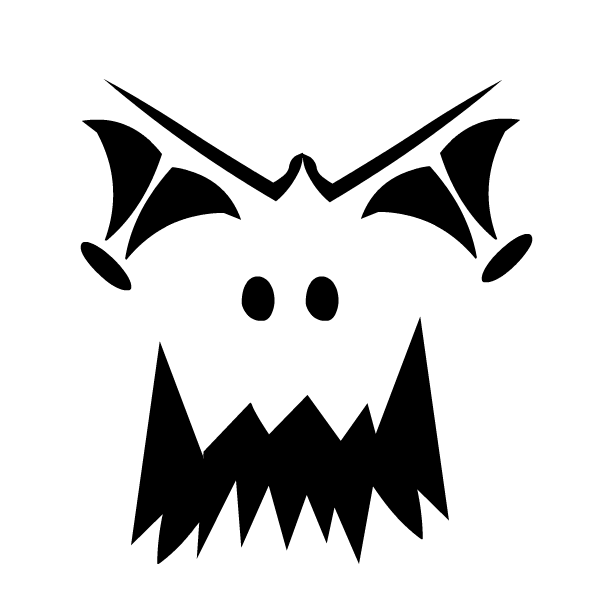 scary pumpkin stencil carve a creepy pumpkin to surprise your guests