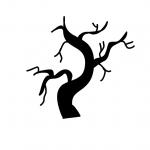 haunted tree stencil