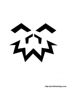 stencil for jack-o-lantern