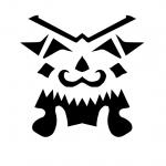 king face pumpkin stencil