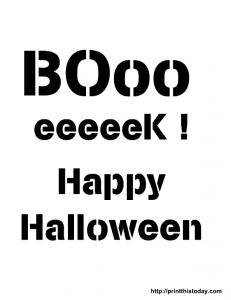 Boo stencil