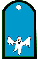 Scary ghost favor tags