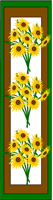 Bookmarks with sunflowers