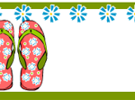 Free printable summer labels with flip flops