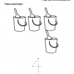 4 sand buckets preschool maths worksheet