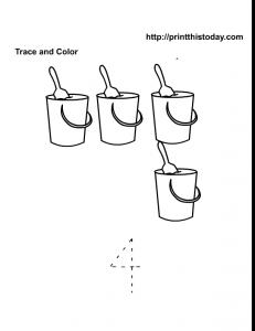4 sand buckets preschool maths worksheet