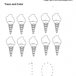 free printable ice cream number 10