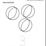 Summer maths worksheet with 3 beach balls