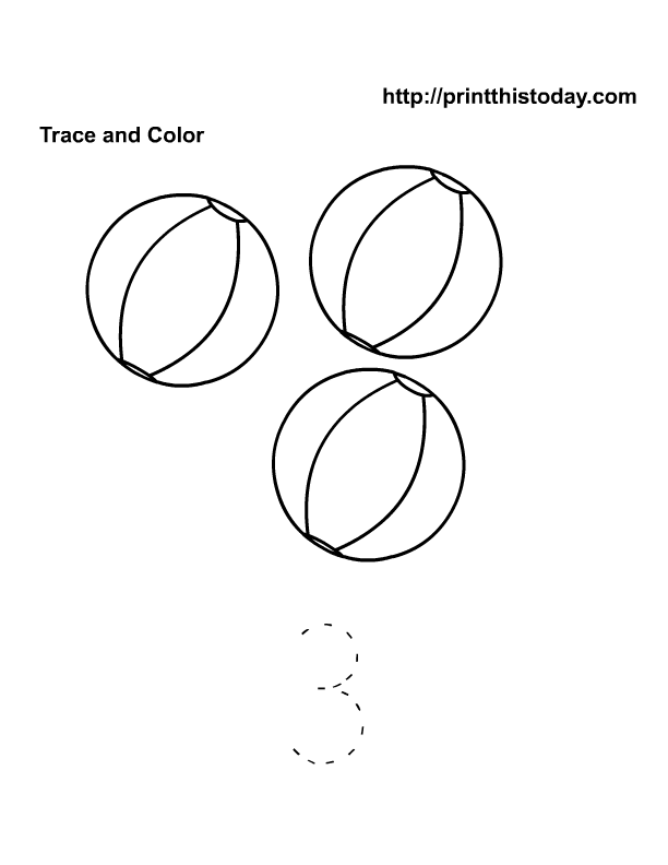 Number 3 Coloring Page Coloring Pages For Kids Number Word – Number 3 Worksheets