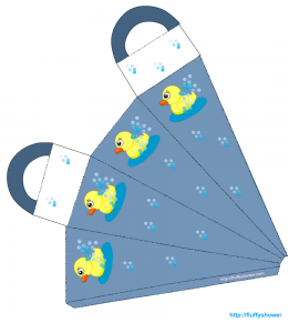 Cute birthday party favor bag with rubber ducky