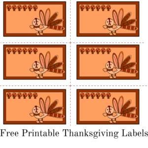 Free printable Thanksgiving labels