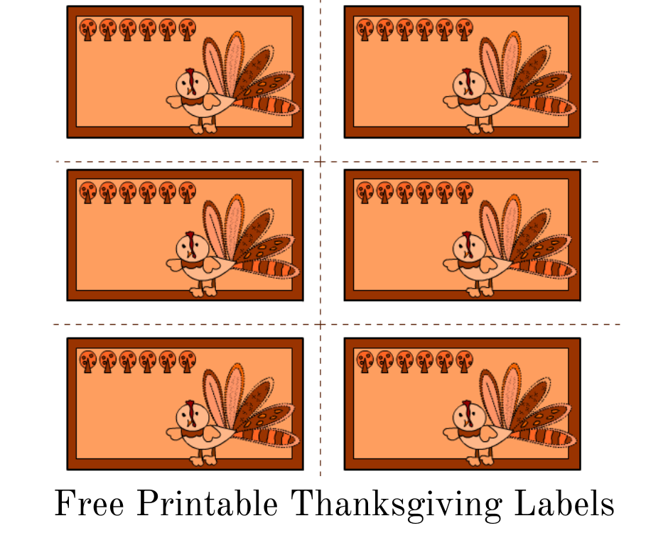 Free printable Thanksgiving labels