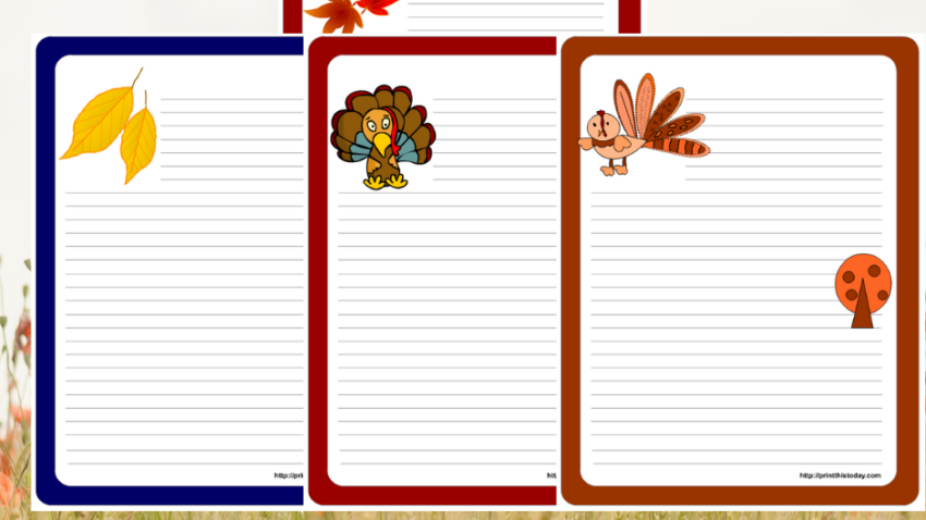 Free Printable Thanksgiving Writing Paper Stationery
