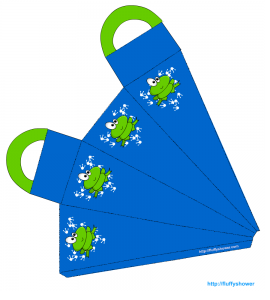 Free paper craft bag with froggy
