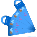 African-American baby boy shower favor bag